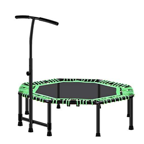 Boden Trampoline Outdoor Indoor Bungee Sport Jumping Fitness Indoor Trampolin Heimtraining Fitness Mini Trampolin für Kinder Erwachsene Faltbares Rebounder Trampolin mit verstellbarem Handlauf für d