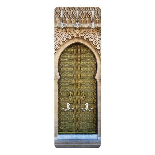 Apalis 79256 Wandgarderobe Oriental Gate | Design Garderobe Garderobenpaneel Kleiderhaken Flurgarderobe Hakenleiste Holz Standgarderobe Hängegarderobe | 139x46cm