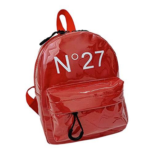 AIni Rucksack Kinder, Kinderrucksack Neu Einfach Elterntasche Kindergeldbeutel Set für Kinder Kinderrucksäcke Rucksäcke Rot
