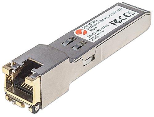 INTELLINET Gigabit SFP Mini-GBIC Transceiver 1000Base-T (RJ45) Single-Mode Port Reichweite bis zu 100m - Hot Pluggable Single