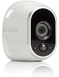 Netgear Arlo VMC3030-100EUS - Cámara IP 100% libre de cables para video vigilancia con visión diurna/nocturna  (cámara adicional, montaje en interior y exterior resistentes al agua, no sumergible)