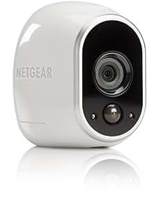 Netgear ARLO VMC3030-100EUS Videocamera HD con Wi-Fi per la Sicurezza Domestica, Interno/Esterno, Visione Notturna, Bianco