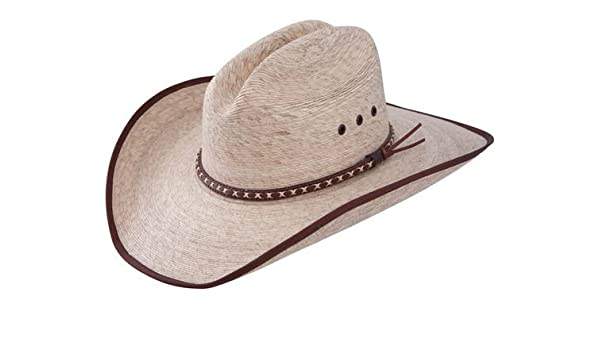 4b3c6626b21 Resistol Jason Aldean Hicktown - Mexican Palm Straw Cowboy Hat (Large)   Amazon.in  Clothing   Accessories