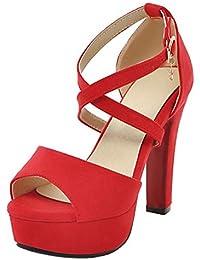 165ef30b3 Amazon.es  RAZAMAZA CENTER - Sandalias de vestir   Zapatos para ...