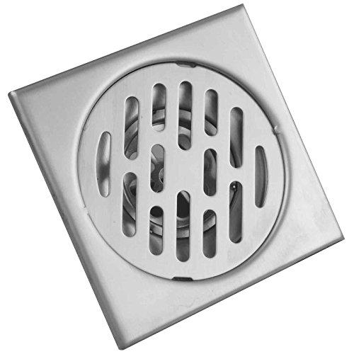 PaulGurkes Bodenablauf mit Geruchsverschluss 10x10cm Edelstahl Ablauf -