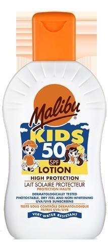 Malibu Kids Sun Lotion with SPF50 200 ml by Malibu (English Manual)