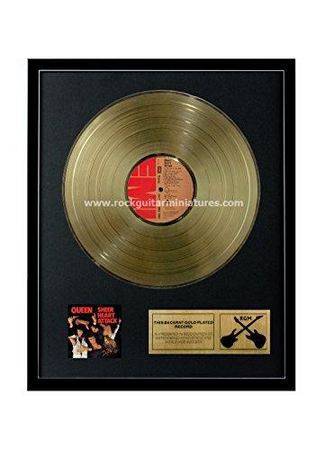 RGM1165 Queen Sheer Heart Attack Gold überzogene 12 '' LP von Rock Guitar Miniatures