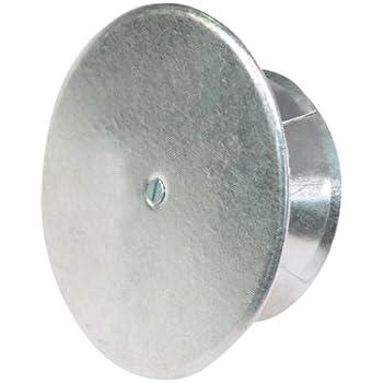 Kamino-Flam Bouchon Cheminée Perforé, Tampon Isolé en Acier Aluminié à Chaud, Ø 160 mm, Argenté