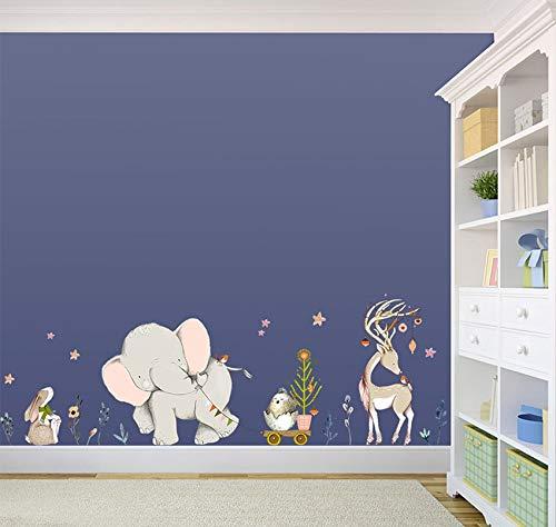Pegatina de elefantes, jirafas para paredes cristal .habitaciones niños salas lectura cabecero...