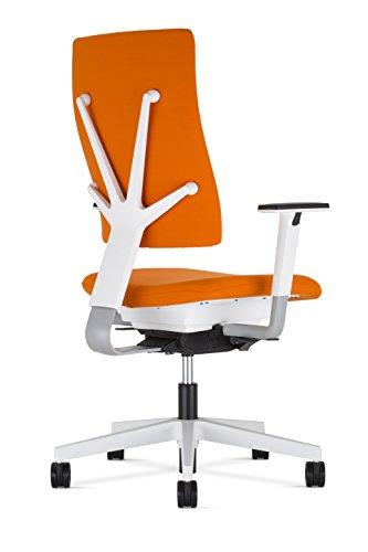Bürostuhl 4me mit weißem Rückenträger von BN Office Solution, ohne Armlehnen
