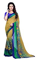 50% georgette and 50% dani, with blouse piece, casual wear, material: faux georgette, saree length: 5.25 meter and 0.75 meter blouse, running blouse attached with the saree.