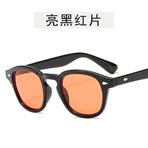 WTACK Objektiv Männer Sonnenbrille FrauenRunde Form Augesonnenbrilleschatten Mit Niet Dekoration