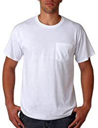 Jerzees Men's Five Point Left Chest Pocket T-Shirt (Pack of 5)