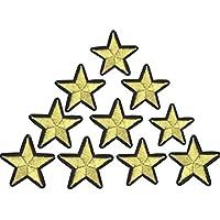 Toruiwa 10X Parches de Ropa Parches de Estrellas para Ropa Parches termoadhesivos Estrellas Parches de decoración DIY Parches Bordados 4CM*4CM