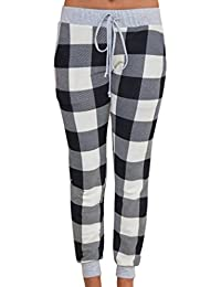 Women Trousers Leggings, Ladies Sports Gym Fitness Exercise Pants Jumpsuit Athletic Skinny Pant Girls Slim Running Pants Fitness Stretch Trouser Pencil Pants Women Pencil Casual Plaid Skinny Pants High Waist Trousers Party Pants