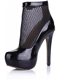 KUKIE Best 4U? Sandalias de verano para mujer, de poliuretano de alta calidad, punta redonda, 14 cm, tacones altos...