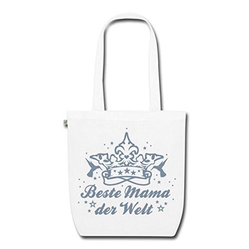 Spreadshirt Beste Mama Bio-Stoffbeutel Weiß