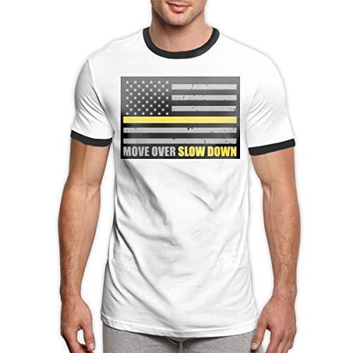 Patrick R Garrett Bewegen Sie Sich über langsamer Abschleppwagen Fahrer Flagge T-Shirt Trendy Herren Ringer T-Shirt Soft Short Sleeve T-Shirt Top -