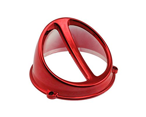 Lüfterspoiler Air Scoop Chrom rot - universal (Scoop Seitenverkleidung)