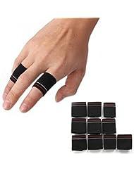 Grofitness à rayures doigt manches Basketball volleyball pouce écran d'exercice d'haltérophilie Finger Guard, Lot de 10