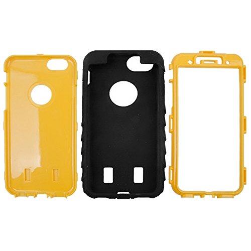 GHC Cases & Covers, Reifen Textur Silikon + Hartplastik Kombination Fall für iPhone 6 & 6S ( Color : Yellow ) Yellow