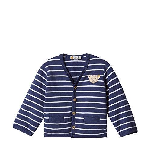 Steiff Baby - Jungen Jacke , Blau (PATRIOT BLUE 6033) , 74 (Herstellergröße:74)