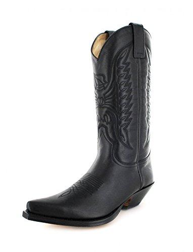 Sendra Boots 2073, Stivali western unisex adulto, Nero (Pull Negro), 46
