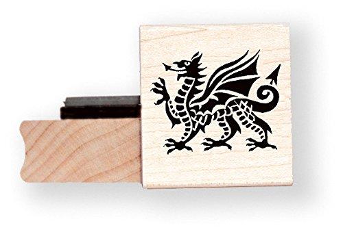 Walisischer Drache Gummi Stempel–br030h