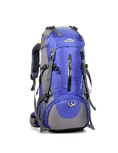 GXS Professional Outdoor Sport Reiten Camping wasserabweisend Multifunktions Schultern Bergsteigen Taschen 45L + 5L Blau - blau