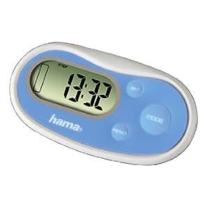 "Hama Pedometer Schrittzähler ""PM-Pro³"", blau, 75 x 40 x 10 mm"