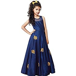 Fashion Vogue_Princess Baby Girls Birthday Party wear gown,Dress,salwar suit_blue color best low price product Free Size_7 year, 8 year, 9 Year, 10 Year, 11 Year, 12 Year_991)