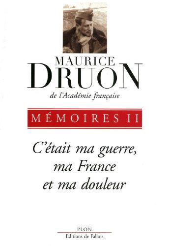Descargar Libro Mémoires (2) de Maurice DRUON