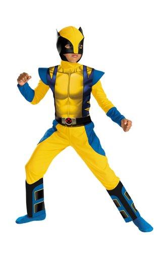 Wolverine Superhelden Kostüm für Kinder M