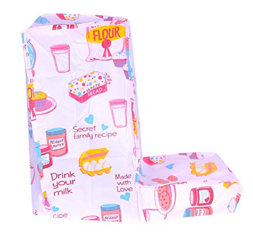Mixer Grinder Cover for Major 'L' Type of Mixies (L-Shape) - Free Size L Shape Mixie Cover, Pink Color Shade with Printed Design