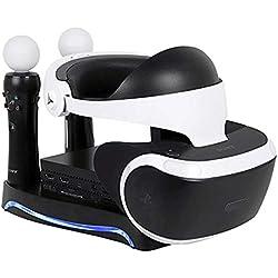 Estacion de carga para gafas y mandos PS4 VR
