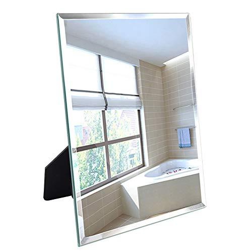 Amazon Marke: Umi. Essentials 27x33cm Spiegel mit polierten Sicherheitskanten für Wandaufhängung oder Tischaufstellung