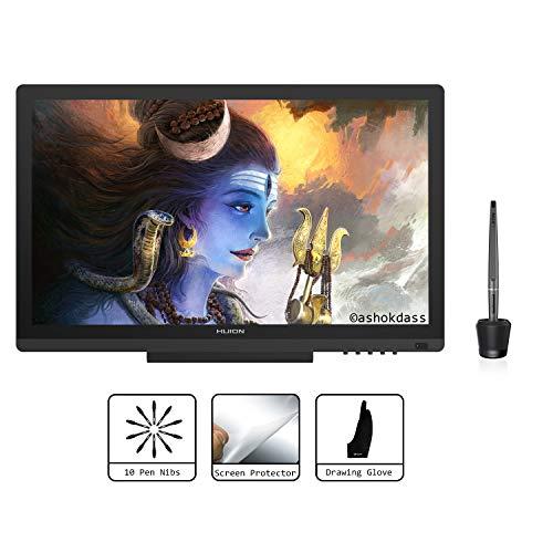 Huion KAMVAS GT-191 Tabletas gráficas de 19.5 pulgadas Monitor de dibujo digital con pantalla de lápiz HD con 8192 niveles de presión de lápiz y tipo IPS LCD
