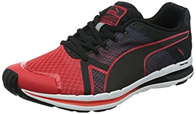 Puma Men's Faas 300 S V2 High Risk Red-Black-Black Mesh Running Shoes - 9 UK/India (43 EU)