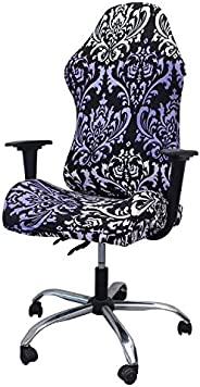 WOMACO Gaming Chair Covers Stretch Printed Computer Chair Slipcover for Leather Office Game Reclining Racing R