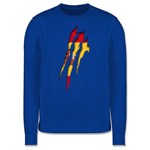 Länder - Spanien Krallenspuren - Herren Premium Pullover Royalblau