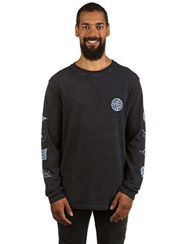 Herren Langarmshirt Rip Curl Pictos LS T-Shirt Black