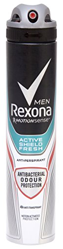 Rexona Men Antibacteriano Frescor Desodorante Spray 200 ml - [Pack de 6]