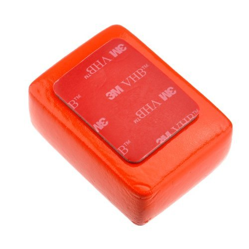 Goliton Floaty Float Box, Esponja con adhesivo 3M anti-fregadero para GoPro HD Hero 1 / Hero 2 / Hero 3 / Hero 3 + / Hero 4, rojo