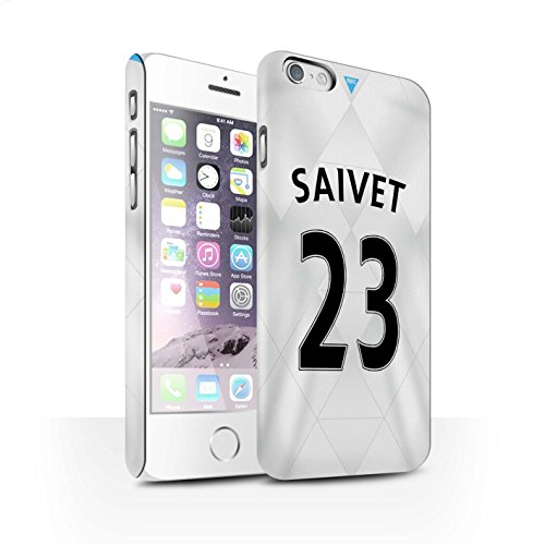Offiziell Newcastle United FC Hülle / Matte Snap-On Case für Apple iPhone 6S / Pack 29pcs Muster / NUFC Trikot Away 15/16 Kollektion Saivet
