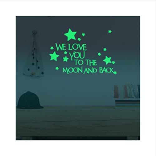 ber Wir Lieben Sie Zum Mond Und Zurück Aufkleber Kinderzimmer Leuchtende Sterne Im Dunkeln Leuchten Aufkleber Dekor ()