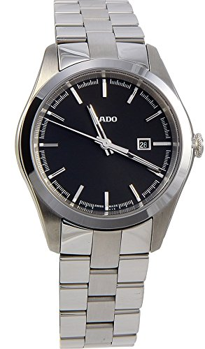 RADO WOMEN'S STEEL BRACELET & CASE SWISS QUARTZ BLACK DIAL WATCH R32110153