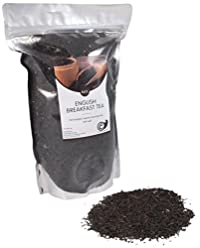 Bulk Packed Loose Whole Leaf Proper English Breakfast Black Tea , Makes 150+ Cups of 8oz Tea, Aromatic and Bold Traditional English Tea