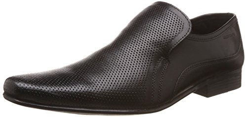 Red Tape Men's Slip On Black Leather Formal Shoes - 10 UK/India (44 EU)