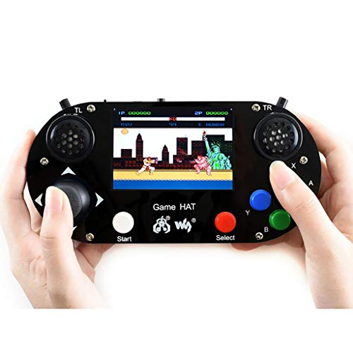 Waveshare Game HAT with 480x320 3.5inch IPS Screen 60 Frame Make Your Own Classic Game Console Support Raspberry Pi A+/B+/2B/3B/3B+/Zero W