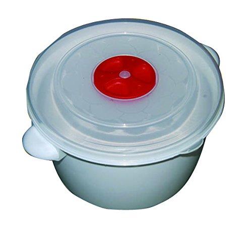 Pica Italia Casalinghi Contenitore Microonde Medio, Plastica, Rosso, 20x16x10 cm